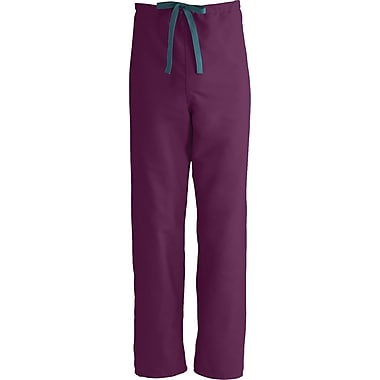 PerforMAX™ Unisex Rev Drawstring Scrub Pants, Wine, ANG-CC, XS, Reg Length