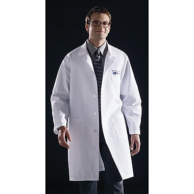 Medline Unisex Knee Length Lab Coats, Light Blue, Large