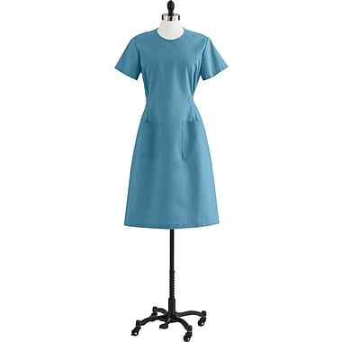 Medline Step-In Scrub Dresses, Peacock, Large