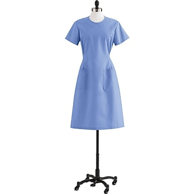 Medline Step-In Scrub Dresses, Ceil Blue, 4XL