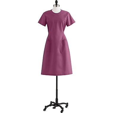 Medline Step-In Scrub Dresses, Raspberry, Small