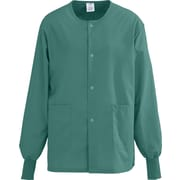 AngelStat® Unisex Two-pockets Snap-front Warm-up Scrub Jackets, Emerald, Medium