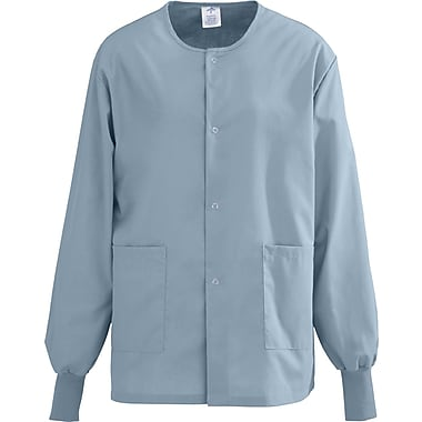 Medline AngelStat Unisex Medium Snap-Front Warm-Up Scrub Jacket, Misty Green (849NTZM)