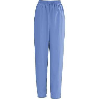 Medline AngelStat Women Large Elastic with Draw Cord Scrub Pant, Ceil Blue (854NTHL)