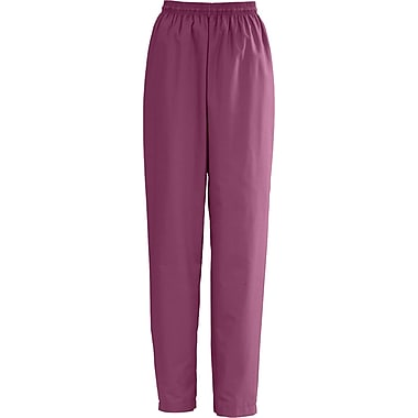 Medline AngelStat Women Large Elastic with Draw Cord Scrub Pant, Raspberry (854NTRL)