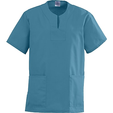 Angelstat® Ladies Two-pockets Keyhole Neck Scrub Tops, Peacock, 2XL