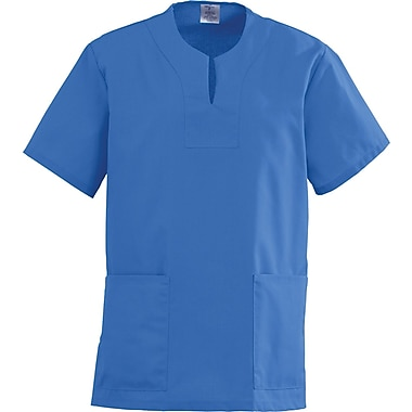 Angelstat® Ladies Two-pockets Keyhole Neck Scrub Tops, Sapphire, Small