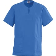 Angelstat® Ladies Two-pockets Keyhole Neck Scrub Tops, Sapphire, 3XL