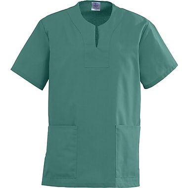Angelstat® Ladies Two-pockets Keyhole Neck Scrub Tops, Emerald, XL