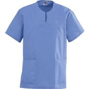 Angelstat® Ladies Two-pockets Keyhole Neck Scrub Tops, Ceil Blue, Small