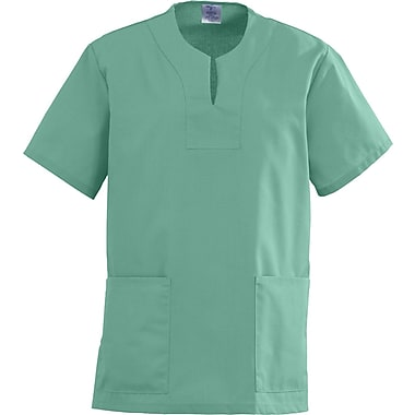Angelstat® Ladies Two-pockets Keyhole Neck Scrub Tops, Jade, XS