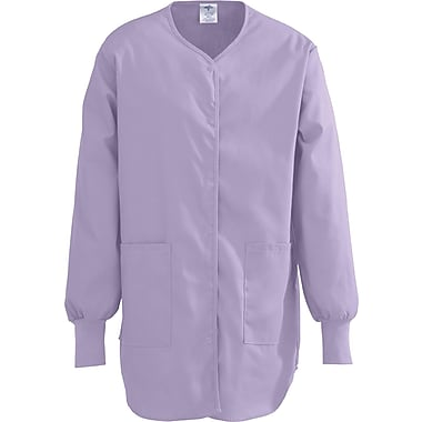 ComfortEase™ Ladies Shirttail Style Two-pockets Scrub Jackets, Lavender, Large
