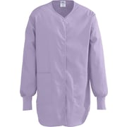 ComfortEase™ Ladies Shirttail Style Two-pockets Scrub Jackets, Lavender, 2XL