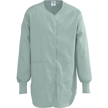 ComfortEase™ Ladies Shirttail Style Two-pockets Scrub Jackets, Seaspray, Large