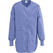 ComfortEase™ Ladies Shirttail Style Two-pockets Scrub Jackets, Ceil Blue, Medium