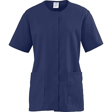 ComfortEase™ Ladies Two-pocket Snap-front Scrub Tunic