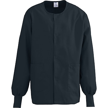 ComfortEase™ Unisex Two-pockets Warm-up Scrub Jackets, Black, 4XL