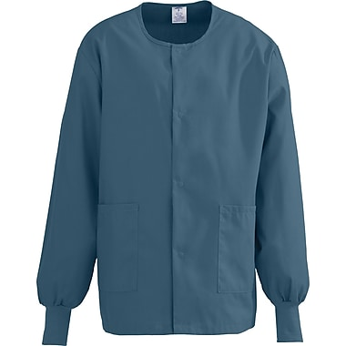 ComfortEase™ Unisex Two-pockets Warm-up Scrub Jackets, Caribbean, Medium