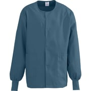 Medline ComfortEase Unisex 2XL Warm-Up Scrub Jacket, Caribbean (8832JCBXXL)