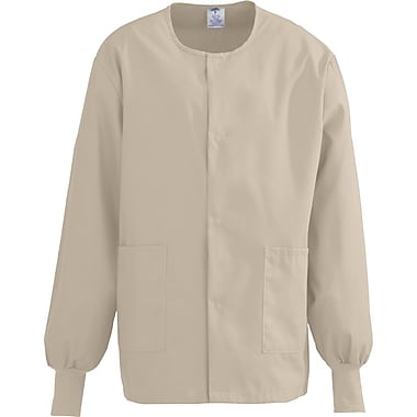 Medline ComfortEase Unisex Large Warm-Up Scrub Jacket, Khaki (8832JKKL)