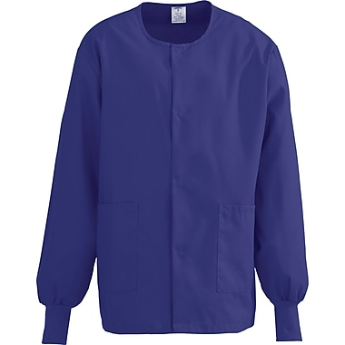 Medline ComfortEase Unisex Small Warm-Up Scrub Jacket, Rich Purple (8832JPPS)