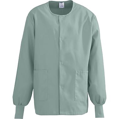 ComfortEase™ Unisex Two-pockets Warm-up Scrub Jackets, Seaspray, Small