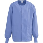 Medline ComfortEase Unisex 3XL Warm-Up Scrub Jacket, Ceil Blue (8832JTHXXXL)