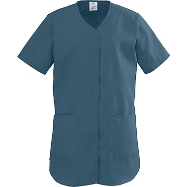 ComfortEase™ Ladies Two-pockets Shirttail Scrub Tops, Caribbean, Medium