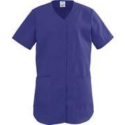 ComfortEase™ Ladies Two-pockets Shirttail Scrub Tops, Rich Purple, XL
