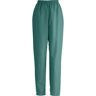 Medline ComfortEase Women Small Elastic Waist Scrub Pant, Evergreen (8850JEGS)
