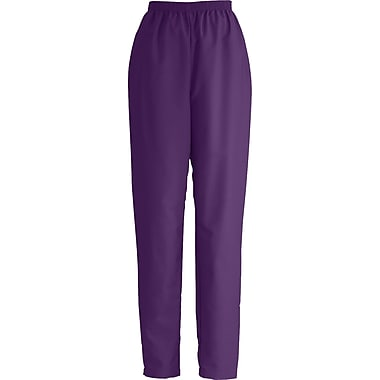 ComfortEase™ Ladies Elastic Scrub Pants, Eggplant, XS, Reg Length
