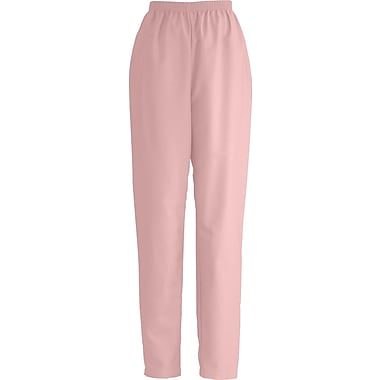 ComfortEase™ Ladies Elastic Scrub Pants, Pink, XS, Reg Length