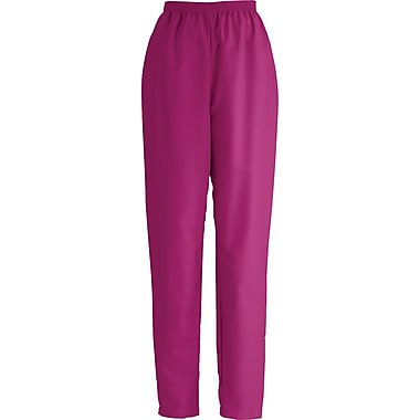 ComfortEase™ Ladies Elastic Scrub Pants, Ruby, Small, Reg Length