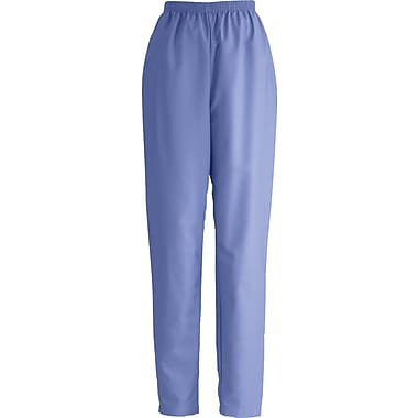 ComfortEase™ Ladies Elastic Scrub Pants, Ceil Blue, Medium, Petite Length
