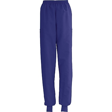 ComfortEase™ Ladies Elastic Knit Cuff Cargo Scrub Pants, Purple, Small, Reg Length