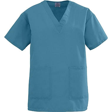 Medline AngelStat Women 3XL V-Neck Two-Pockets Scrub Top, Peacock (893NBTXXXL)