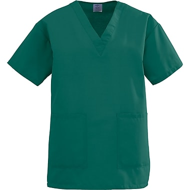 Angelstat® Ladies Two-pockets V-neck Scrub Tops, Hunter Green, Medium