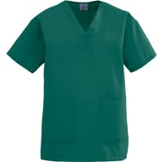 Angelstat® Ladies Two-pockets V-neck Scrub Tops, Hunter Green, 3XL