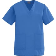 Angelstat® Ladies Two-pockets V-neck Scrub Tops, Sapphire, 5XL