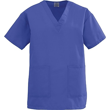 Angelstat® Ladies Two-pockets V-neck Scrub Tops, Regal Purple, XS