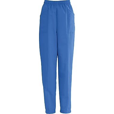 AngelStat® Ladies Elastic Slant-top Pocket Scrub Pants, Sapphire, 3XL