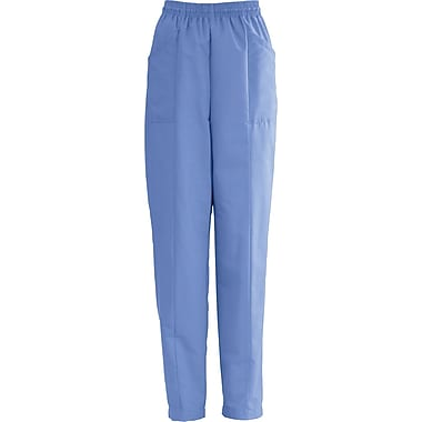AngelStat® Ladies Elastic Slant-top Pocket Scrub Pants, Ceil Blue, XL
