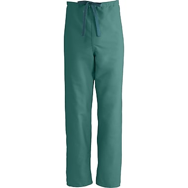 ComfortEase™ Unisex Rev Drawstring Scrub Pants, Evergreen, MDL-CC, Small, Reg Length