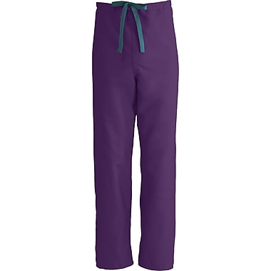 Medline ComfortEase Unisex Large Reversible Scrub Pants, Eggplant (900JEPL-CM)