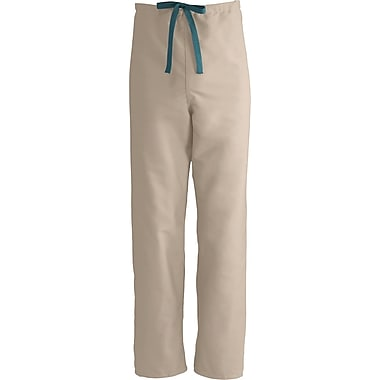 Medline ComfortEase Unisex Small Reversible Scrub Pants, Khaki (900JKKS-CM)