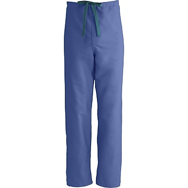 ComfortEase™ Unisex Rev Drawstring Scrub Pants, Mariner Blue, MDL-CC, Small, Reg Length