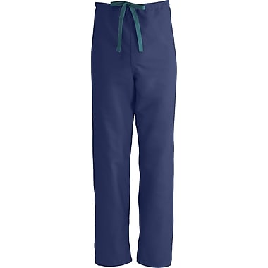 Medline ComfortEase Unisex Small Reversible Scrub Pants, Midnight Blue (900JNTS-CM)