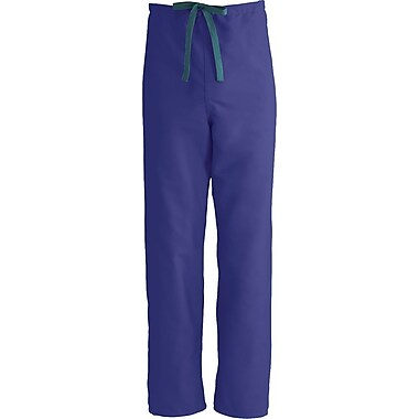 ComfortEase™ Unisex Rev Drawstring Scrub Pants, Purple, MDL-CC, XL, Reg Length