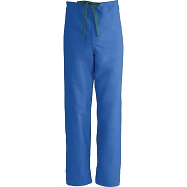 Medline ComfortEase Unisex XS Reversible Scrub Pants, Royal Blue (900JRLXS-CM)