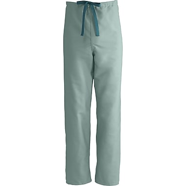 Medline ComfortEase Unisex Small Reversible Scrub Pants, Seaspray (900JSSS-CM)
